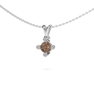 Foto van Hanger Cornelia Round 375 witgoud bruine diamant 0.67 crt
