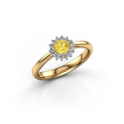 Engagement ring Tilly RND 1 585 gold yellow sapphire 4.2 mm
