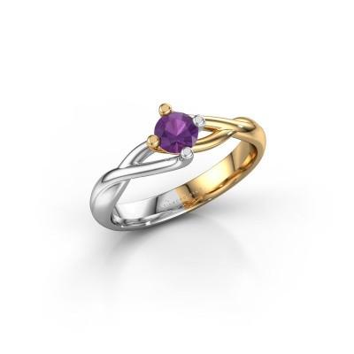 Foto van Ring Paulien 585 goud amethist 4.2 mm