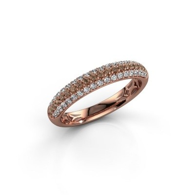 Foto van Ring Emely 2 375 rosé goud bruine diamant 0.557 crt