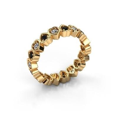 Vorsteckring Pleun 585 Gold Schwarz Diamant 0.594 crt