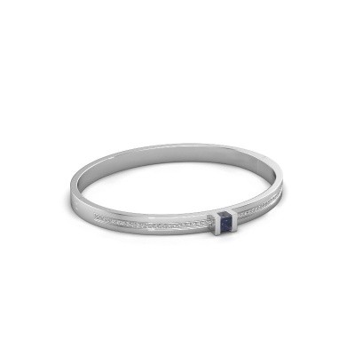 Armband Desire 585 witgoud saffier 4 mm