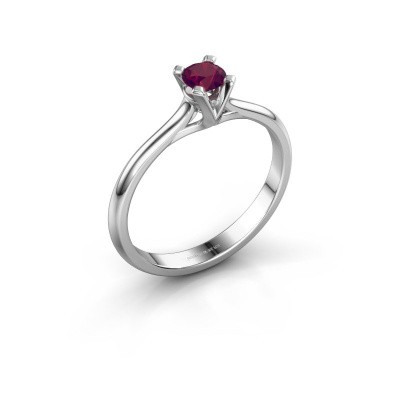 Picture of Engagement ring Isa 1 585 white gold rhodolite 4 mm