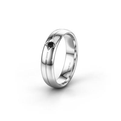 Wedding ring WH0221L35X 950 platinum black diamond ±5x1.5 mm