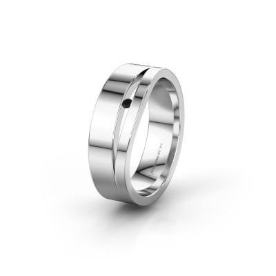 Wedding ring WH6000L16AP 925 silver black diamond ±6x1.7 mm