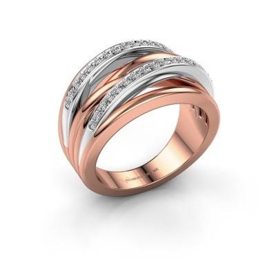 Foto van Ring Annabel 2 585 rosé goud lab created 0.24 crt
