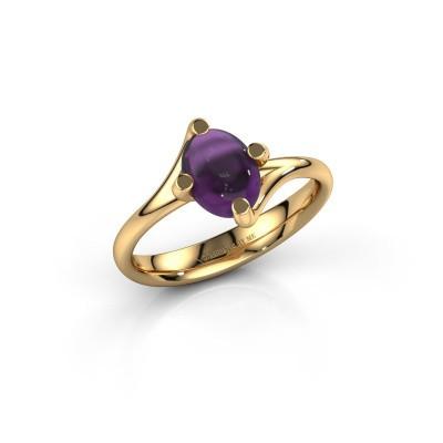 Ring Nora 585 goud amethist 8x6 mm