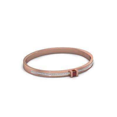 Foto van Armband Desire 585 rosé goud robijn 4 mm