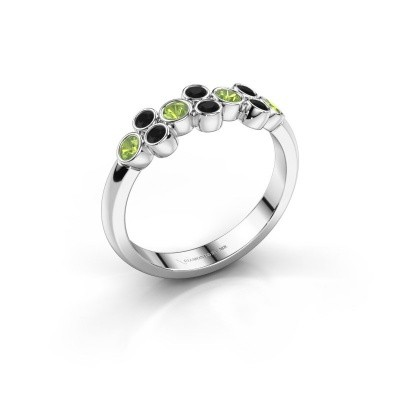 Ring Kayleigh 585 Weißgold Peridot 2.4 mm