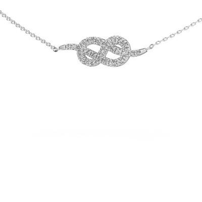 Collier barre Infinity 1 585 or blanc zircone 1.1 mm