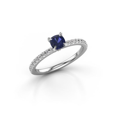 Picture of Engagement ring Crystal CUS 2 925 silver sapphire 5 mm