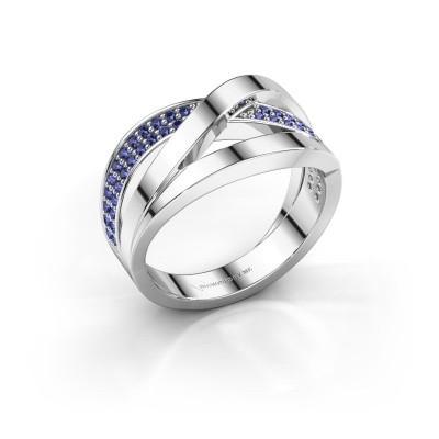 Ring Amira 925 zilver saffier 1.2 mm
