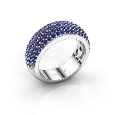 Ring Cristy 585 white gold sapphire 1.2 mm