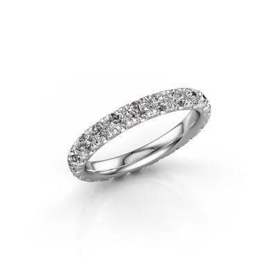 Foto van Aanschuifring Jackie 2.7 585 witgoud diamant 1.76 crt