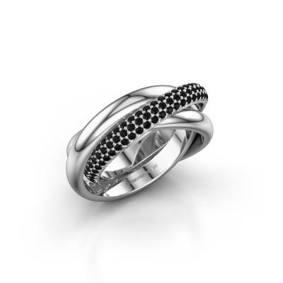 Ring Trinity 2 950 platina zwarte diamant 1.062 crt