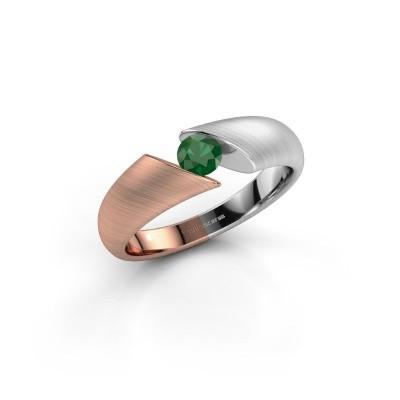 Bild von Verlobungsring Hojalien 1 585 Roségold Smaragd 4 mm