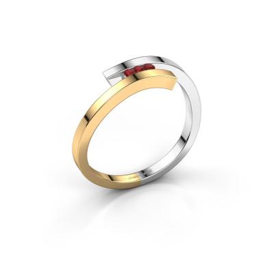 Ring Juliette 585 goud robijn 1.6 mm
