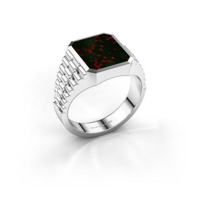 Foto van Rolex stijl ring Brent 2 585 witgoud heliotroop 12x10 mm