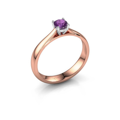 Picture of Engagement ring Sam 585 rose gold amethyst 4.2 mm