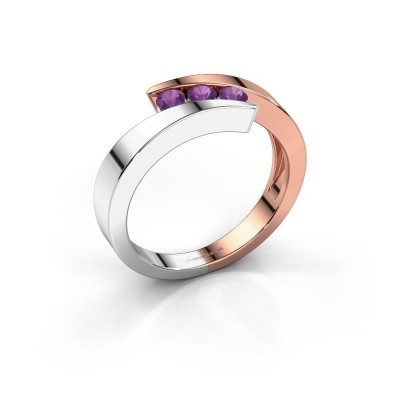 Foto van Ring Gracia 585 rosé goud amethist 2.7 mm