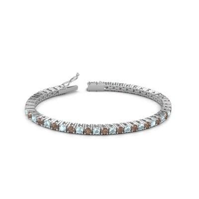 Tennisarmband Jenny 585 witgoud bruine diamant 4.32 crt