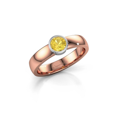 Ring Ise 1 585 rose gold yellow sapphire 4.7 mm