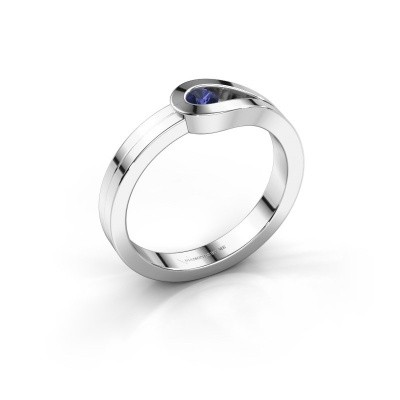 Foto van Ring Kiki 925 zilver saffier 3 mm