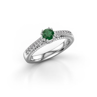 Picture of Engagement ring Rozella 585 white gold emerald 4.2 mm