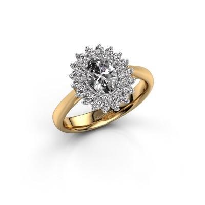 Verlovingsring Alina 1 585 goud zirkonia 7x5 mm