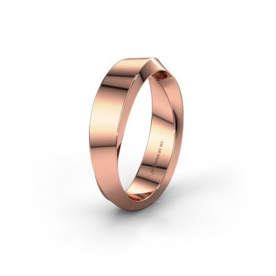 Trouwring WH2232M15E 375 rosé goud ±5x2.6 mm