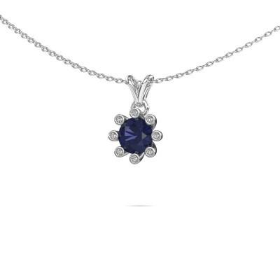 Picture of Pendant Carola 3 950 platinum sapphire 6 mm