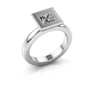 Stapelring Eloise Square 925 zilver zirkonia 5 mm
