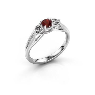 Picture of Engagement ring Amie RND 925 silver garnet 4.2 mm