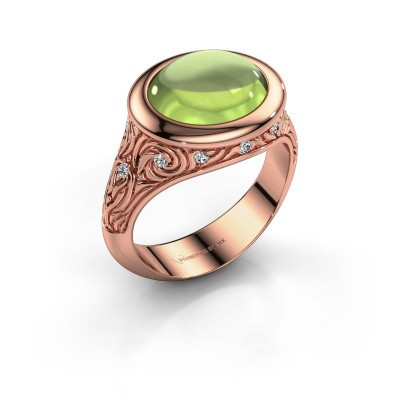 Ring Natacha 375 rosé goud peridoot 12x10 mm