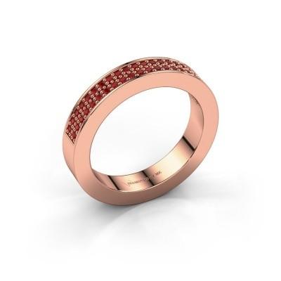 Aanschuifring Catharina 2 375 rosé goud robijn 1.1 mm