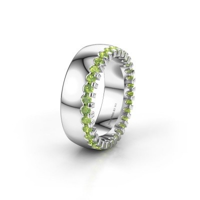 Picture of Wedding ring WH6120L27C 950 platinum peridot ±7x2.2 mm