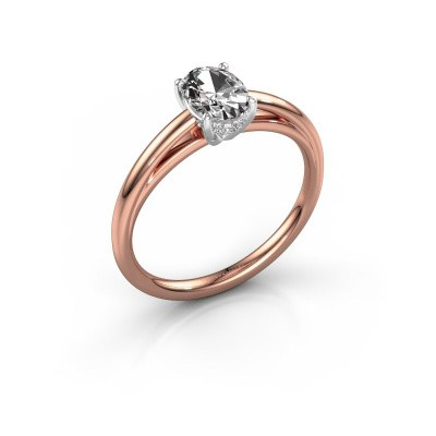 Verlovingsring Haley OVL 1 585 rosé goud lab-grown diamant 0.80 crt
