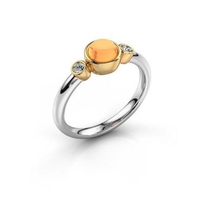 Ring Muriel 585 witgoud citrien 5 mm