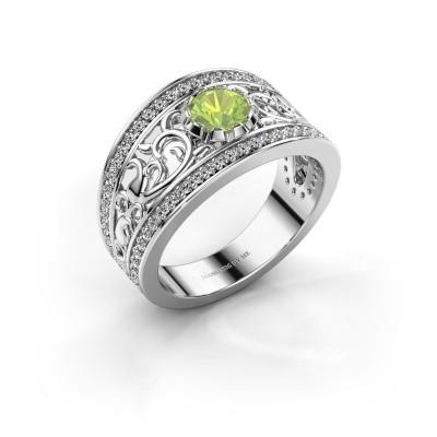 Ring Marilee 585 witgoud peridoot 5 mm