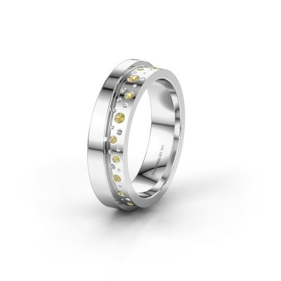 Wedding ring WH6016L15E 950 platinum yellow sapphire ±0.20x0.1in