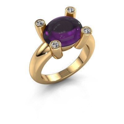 Ring Janice OVL 585 Gold Amethyst 12x10 mm