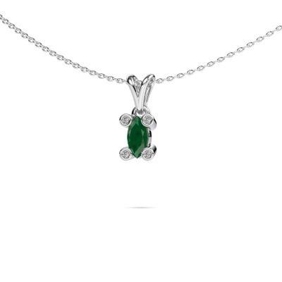 Picture of Necklace Cornelia Marquis 925 silver emerald 7x3 mm