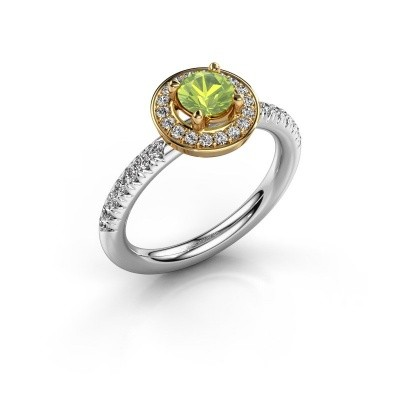 Picture of Ring Christine 585 white gold peridot 5 mm