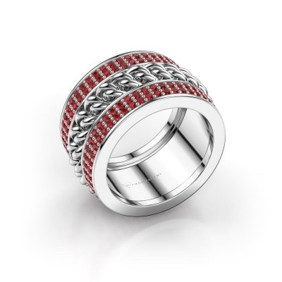 Picture of Ring Jayda 925 silver ruby 1.2 mm