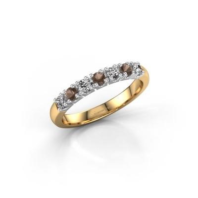 Engagement ring Rianne 7 585 gold smokey quartz 2.4 mm