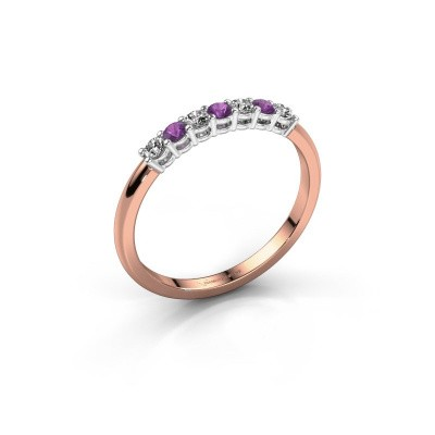 Picture of Engagement ring Michelle 7 585 rose gold amethyst 2 mm