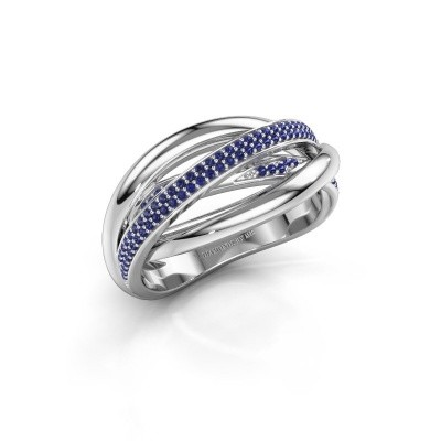 Foto van Ring Candice 585 witgoud saffier 0.8 mm