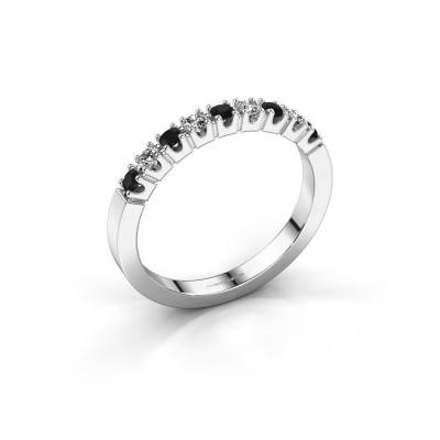 Foto van Verlovingsring Dana 9 585 witgoud zwarte diamant 0.30 crt