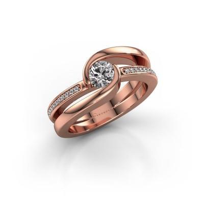 Foto van Ring Xenia 2 375 rosé goud zirkonia 5 mm