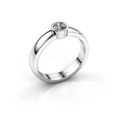 Foto van Ring Ise 1 585 witgoud diamant 0.25 crt